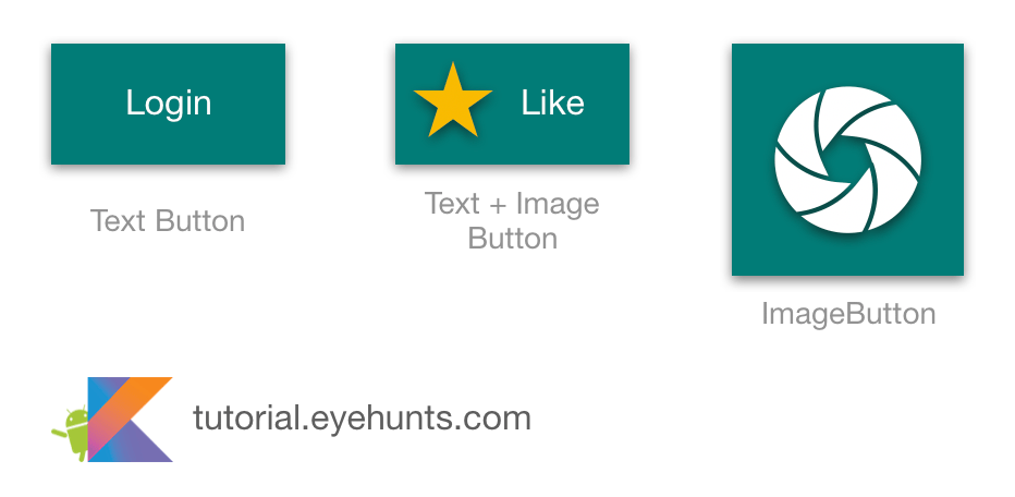 Android Button Example [ OnClick | Color | Design ] in Kotlin tuorial