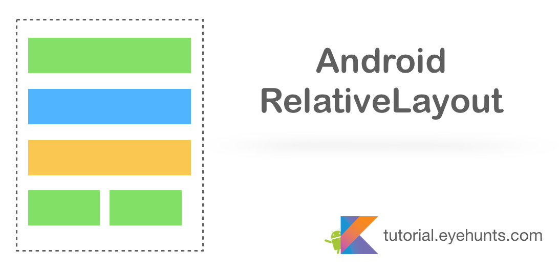 Android RelativeLayout Tutorial with Example kotlin