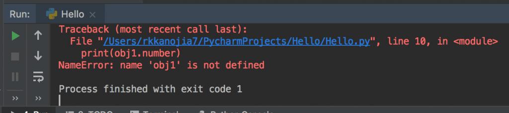 Python Classes create Explained delete object ouput error
