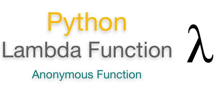 Python Lambda Function | Examples