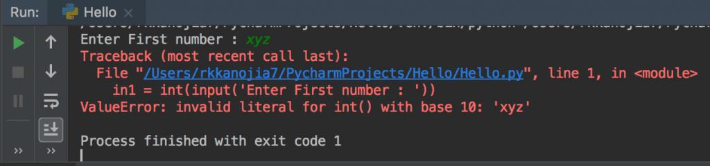 Python Read Input as Integer error