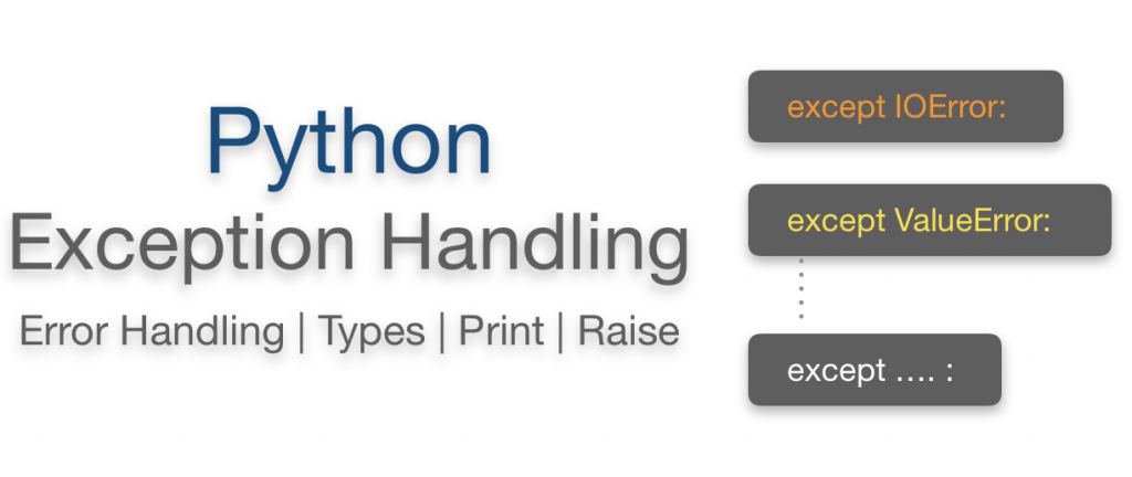 Python exception Handling   Error Handling print Raising types