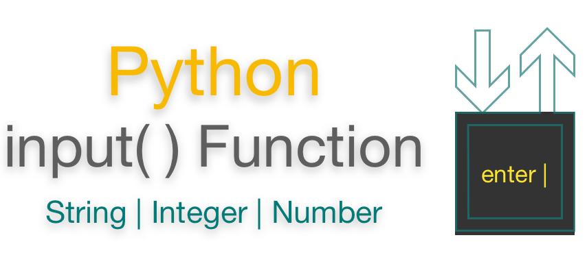 Python input function   Input String   Input Integer (Number)