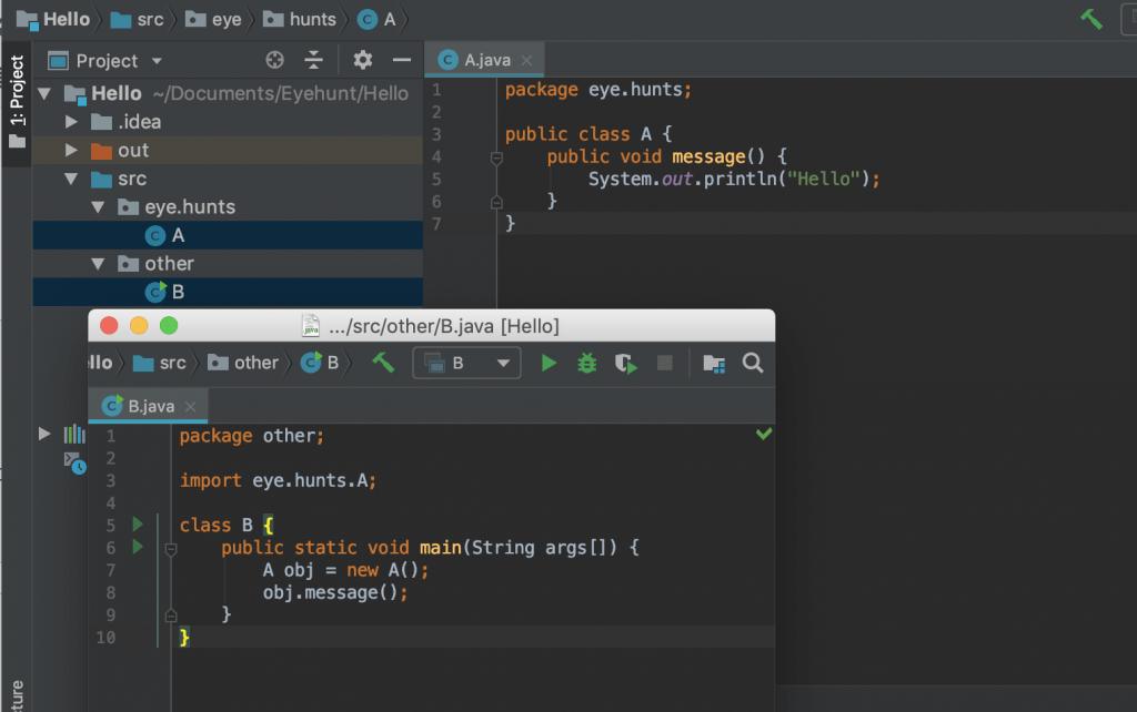 Java Public Access Modifier example