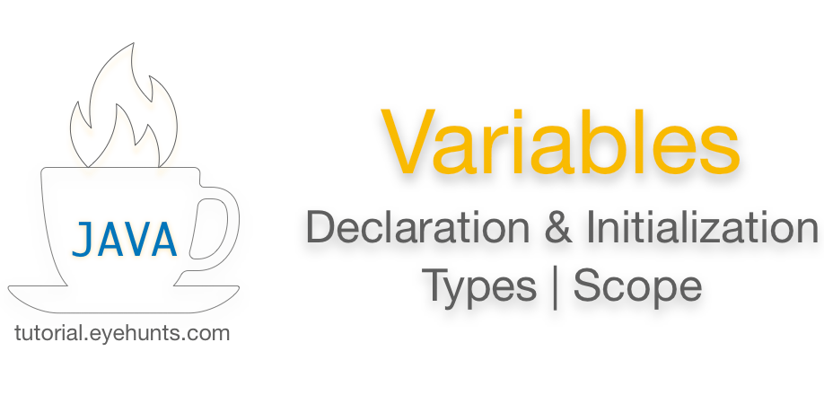 Java Variables Declaration Types - Scope with Examples