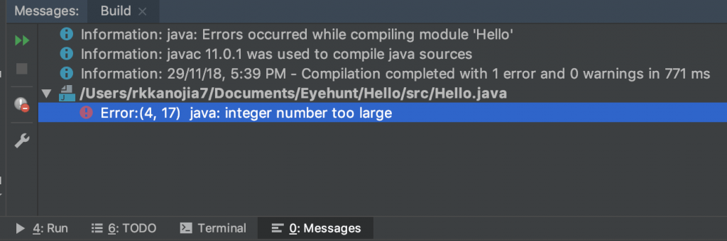 Java int, What if integer beyond its max value error