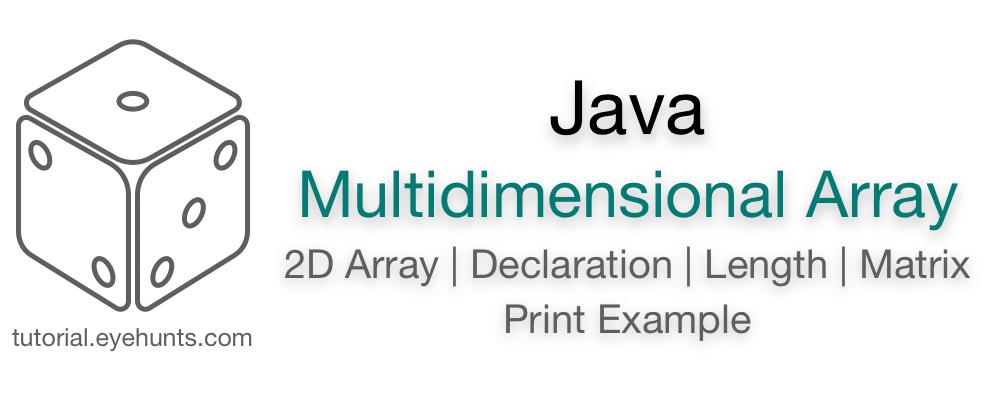 2d Array Java Multidimensional Array example Matrix