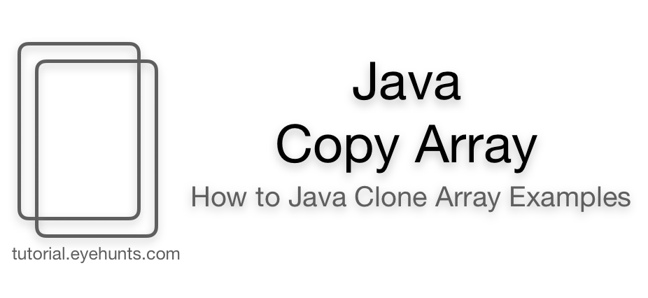 Java Copy Array and How to Java Clone Array Examples