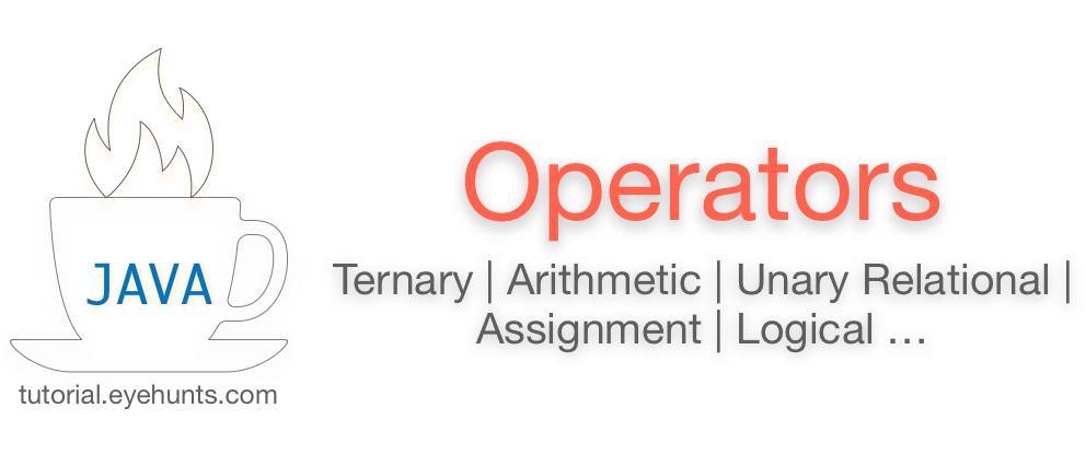 Java Operators | Ternary, Bitwise, Arithmetic, Assignment, Logical examples