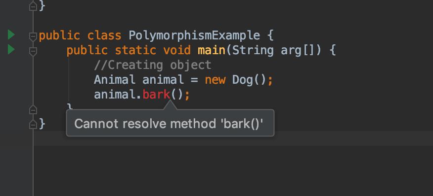 Java downcasting example error