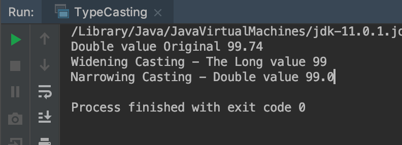 Type conversion java and type casting java example output