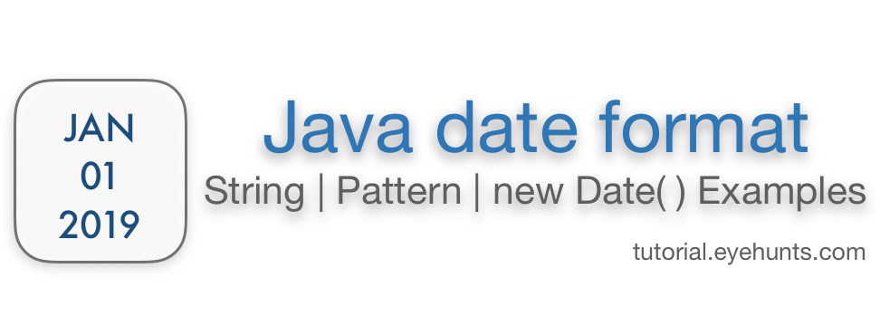 How to Java date format String Pattern with new Examples