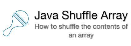 Java Shuffle Array  Random Array Program example