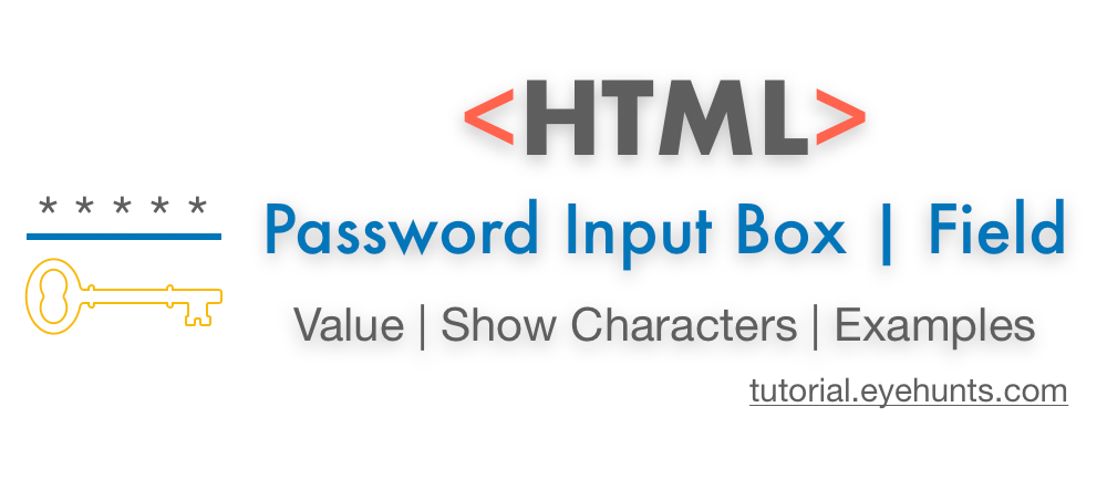 HTML Password Input Box Field  Show Characters example