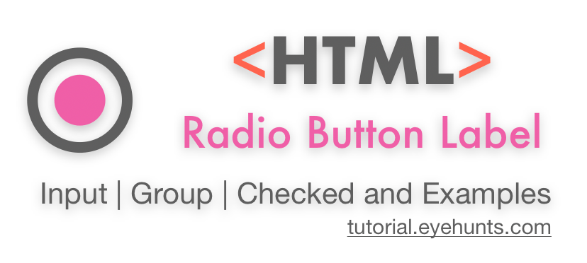 HTML Radio Button Label Input, Group, Checked with examples