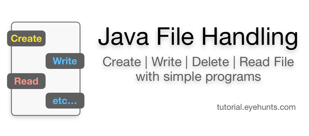 Java File Handling