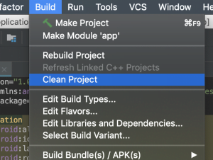 Clean project android studio