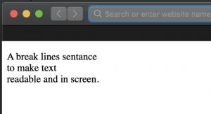 HTML Line Break Example Code
