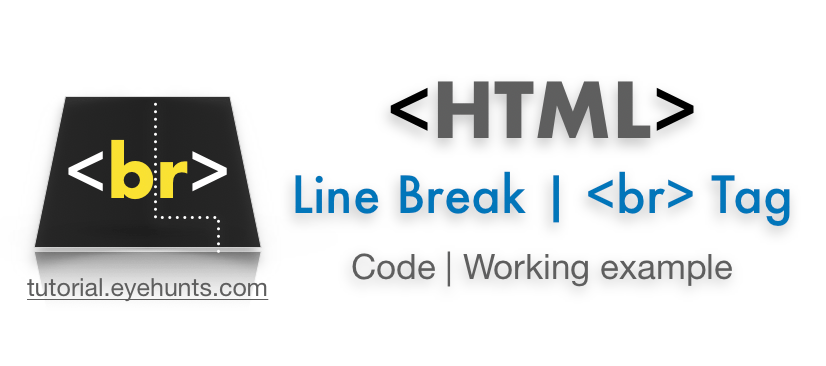 HTML Line Break HTML br tag Example code