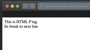 HTML paragraph break