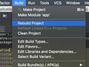 Rebuild Project android studio