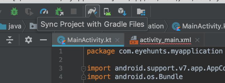 Sync project with gradle