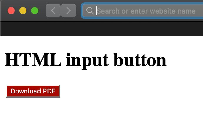 html input button color