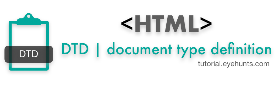 HTML DTD Document type definition Example