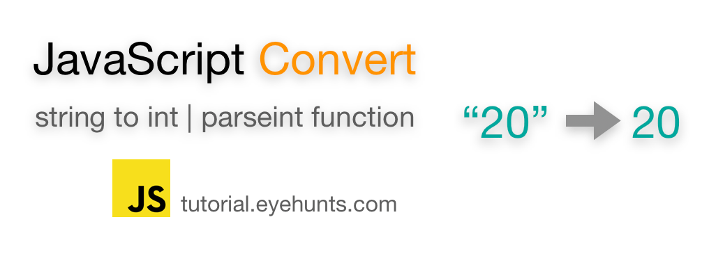Convert Javascript string to int parseint function