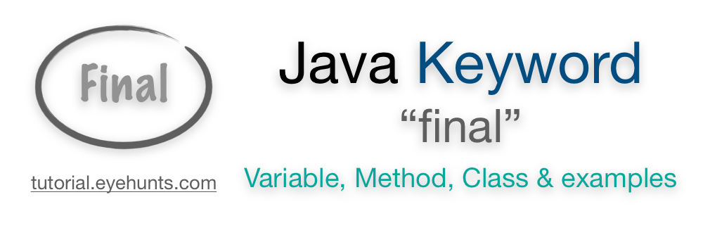 Final keyword in Java Variable, Method, Class