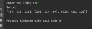 Python sort tuple Order Example