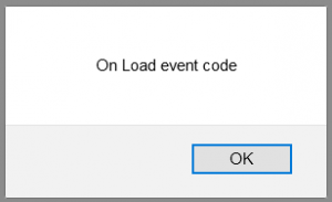 Examples of JS onload Event