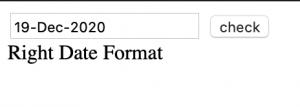 javascript validate date format dd-mmm-yyyy using regular expression