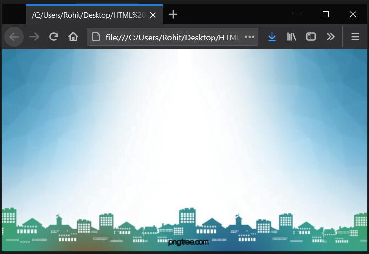 responsive Html background image full screen