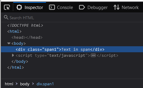 Change tag using JavaScript