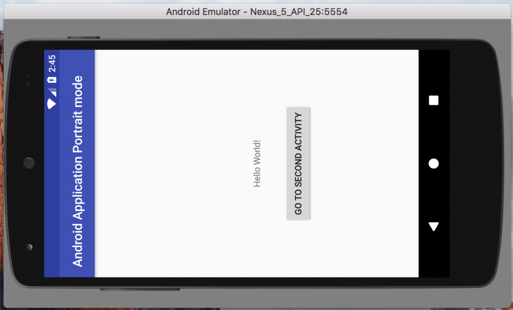 Android Application in Portrait mode kotli n