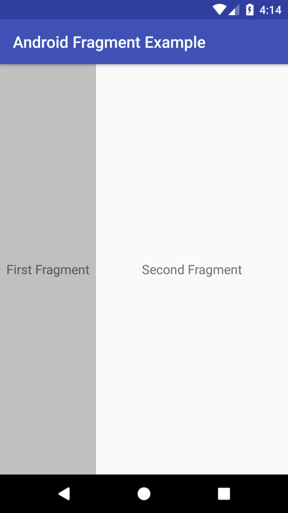 Android Fragment example
