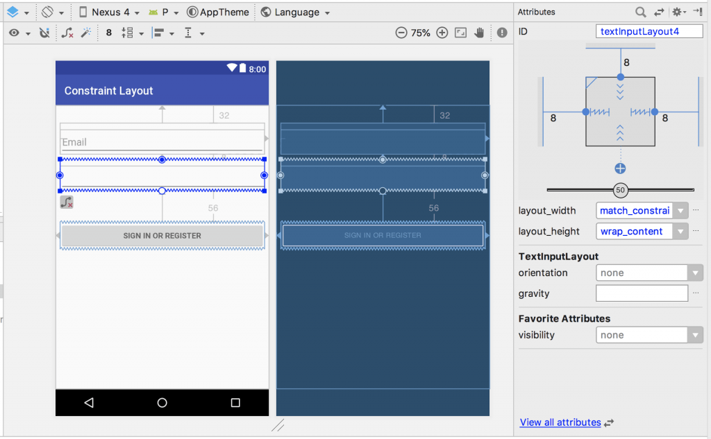 Drag and drop ConstraintLayout androi d