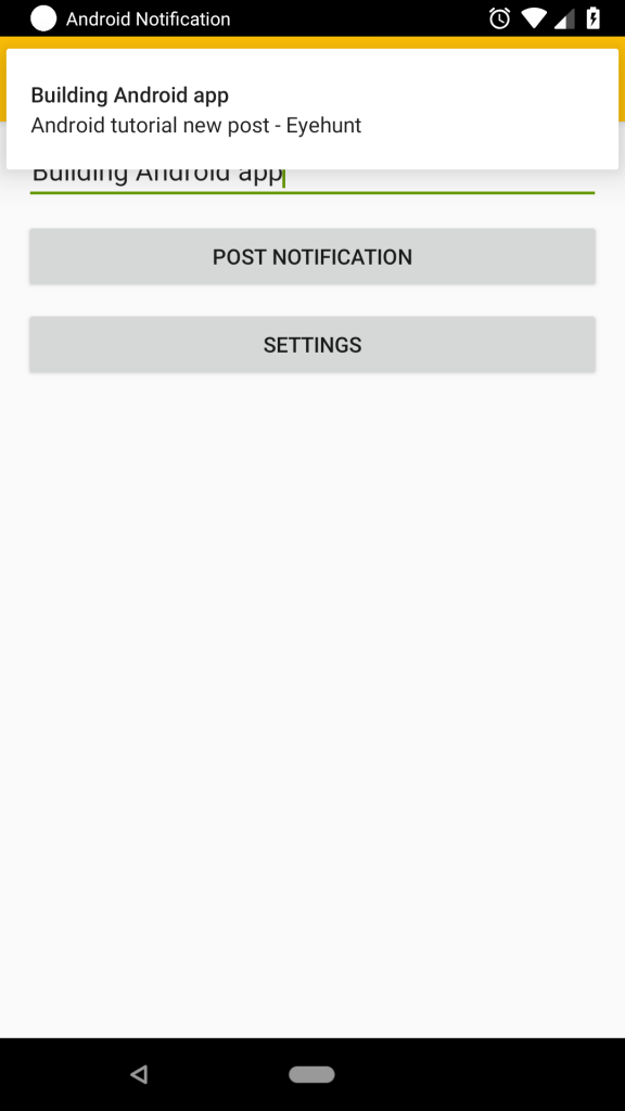 Android Notification New features in Android 8.0+ oreo p output