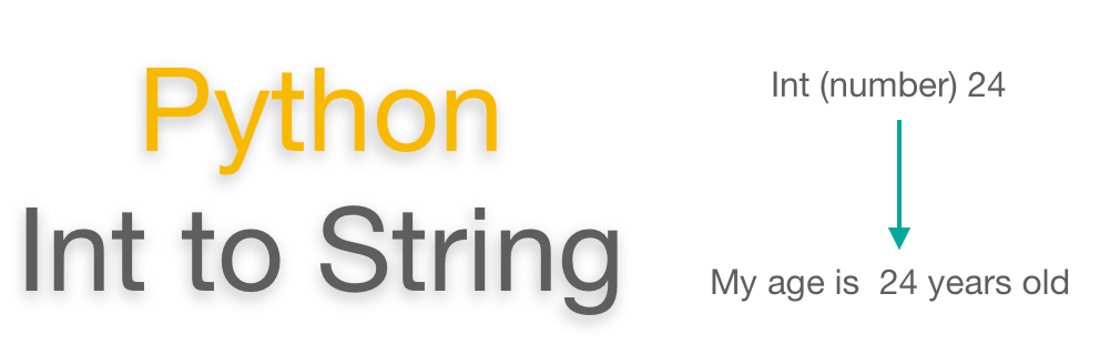 Convert int to string Python | Format example