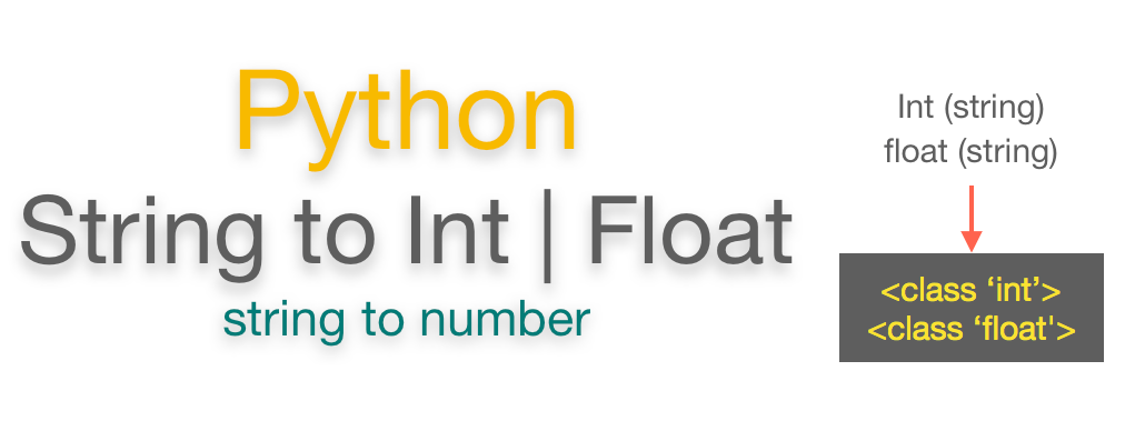 Convert string to int or float Python | string to number
