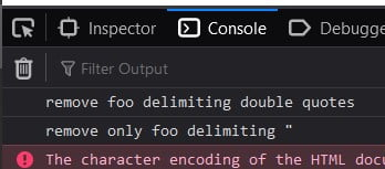 Remove the quotes around a given string