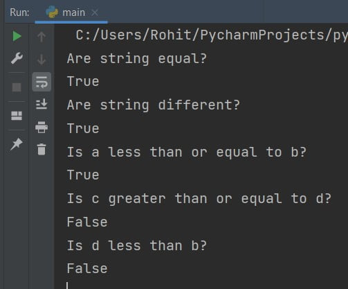 Compare two strings Python
