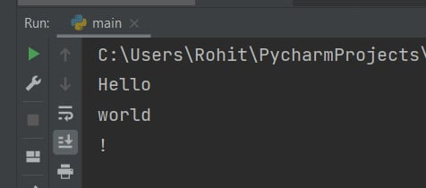 How to print in the same line in Python