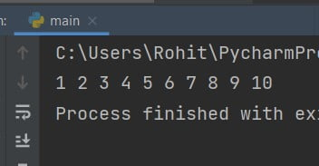 How to print numbers in same line in Python
