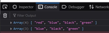 JavaScript Remove specific element from Array