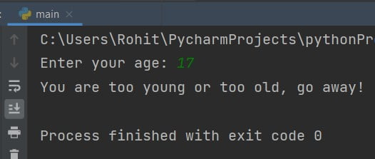 Python If-Else Statement with OR Operator in Condition/
