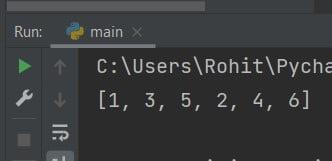 Python add to list Concatenation