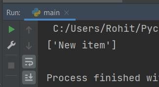 Python append to empty list