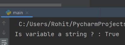 Python check for string